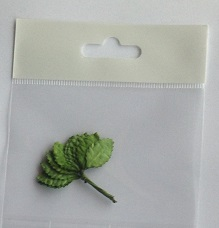 18mm green textured leave pack 10