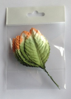 70 mm green leave white and orange tip pack 10