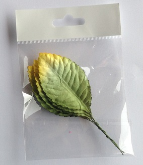 70 mm green leave yellow tip pack 10