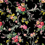 Grace scroll floral black