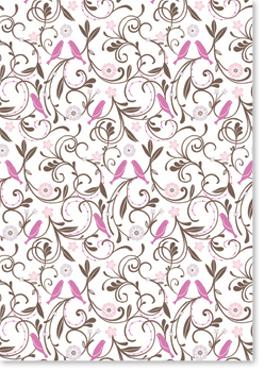 little Birdies Peony designer paper from Ipaper