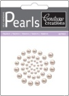 cafe creme self adhesive pearls from couture creations