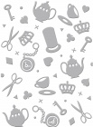 dreamscapes Tea Party embossing folder