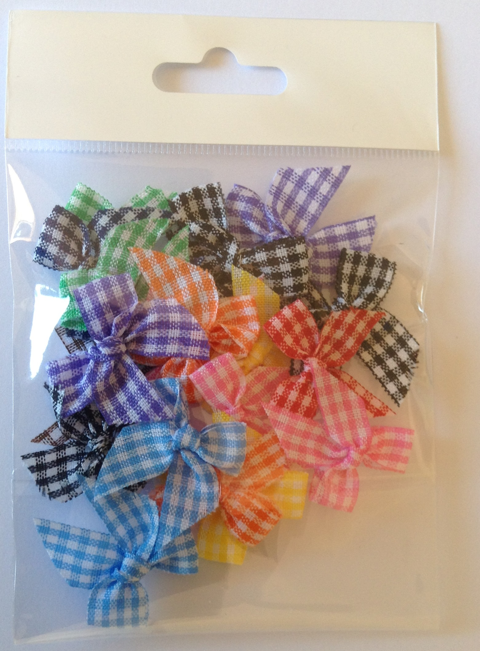 mixed gingham 10 mm