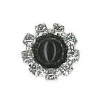 onyx crystal stud