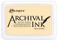 pale ochre archival ink pad