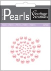 pink blush self adhesive pearls from Couture Creations