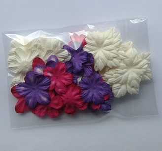 pinks purples and whites mix pack of 50