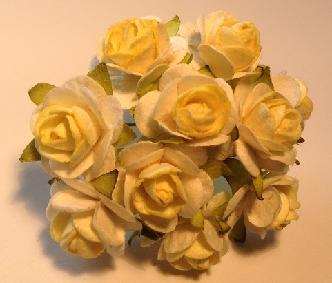 vintage ivory and yellow