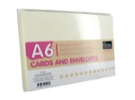 A6 card set cream