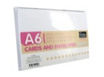 A6 card set white