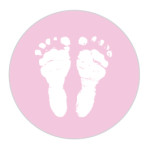 Baby Feet Dusky Pink Sticker Large