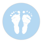 Baby Feet Powder Blue Sticker Large