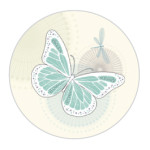 Butterfly Aqua Sticker Large
