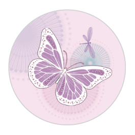 Butterfly Pink Sticker Large