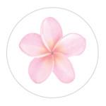 Frangipani Pink Sticker Large