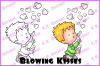 blowing kisses