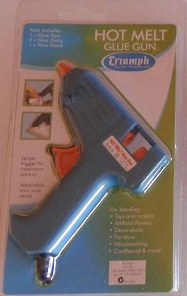 Mini Hot Temp glue gun from Triump