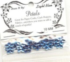 light blue bling petals