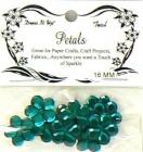 teal 16mm bling petals