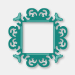 CO723724 elegant square The Van Roe Decorative Die Collection Couture Creations