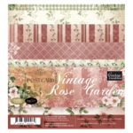 vintage rose garden paper pad 6x6 from Couture Creations