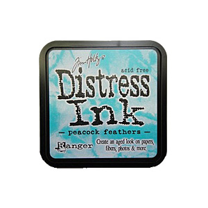 Peacock Feathers Distress Ink from Tim Holtz and Rangerink