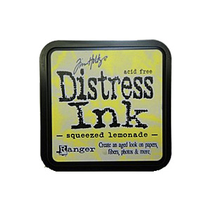 Squeezed Lemonade Distress Ink from Tim Holtz and Rangerink