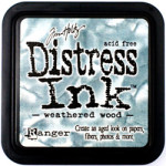 Weathered Wood Distress Ink from Tim Holtz and Rangerink