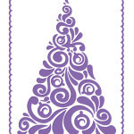 fancy tree embossing folder