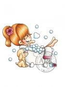 Bubble Love rubber stamp from A Random Fan