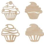 Cupcakes Wooden Flourish from Kaisercraft