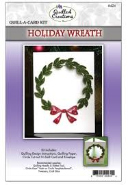 Holiday Wreath Quill A Card Kit from Quilled Creations