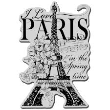 I Love Paris Cling Stamp From Stampendous