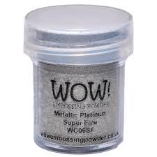 Metallic Platinum Super Fine WOW Embossing Powder