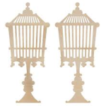 birdcage standing wooden flourish from Kaisercraft