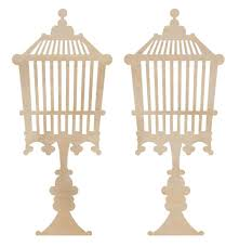 birdcage standing wooden flourish from Kaisercraft