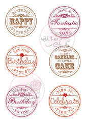 birthday circles clear stamp from Wild Rose Studio
