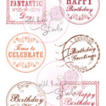 birthday greetings clear stamp from Wild Rose Studio