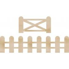 fence and gate wooden flourish from Kaisercraft