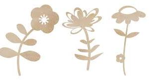 flowers wooden flourish from Kaisercraft