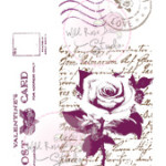 love letters clear stamp from Wild Rose Studio