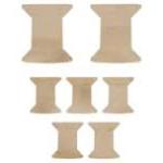 spools wooden flourish from Kaisercraft