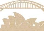 sydney icons wooden flourish from Kaisercraft