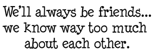 Always be friends rubber stamp from art impressions