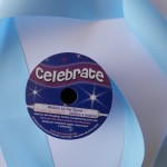 Baby Blue 38mm double satin ribbon from Celebrate