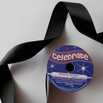Black 25mm double satin ribbon from Celebrate