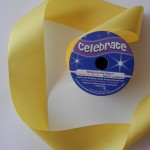 Yellow 38mm double satin ribbon from Celebrate