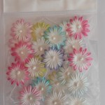 25mm mixed mulberry paper flowers