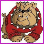 Bulldog rubber stamp from Art Impressions